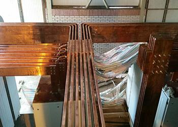 طراحی، تامین، ساخت و نصب باس بارهای کارخانه مس طارم (لیچینگ 10,000 تنی)