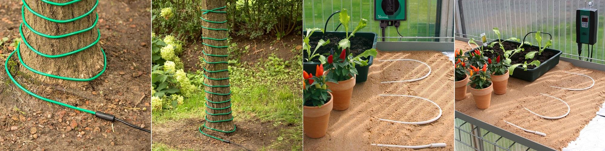 گرمایش از کف با کابل گرمایشی - گرمایش گیاهان و درختان و زمین کشاورزی