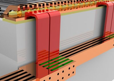 طراحی آپرون باس بار مسی apron copper bus bar